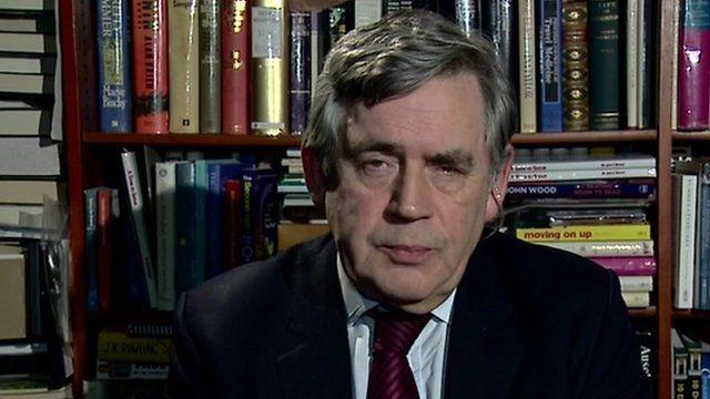 Former UK Prime Minister Gordon Brown