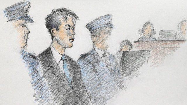 Makoto Hirata court sketch