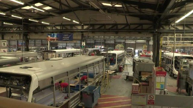 Wrightbus builds buses at its factory in Ballymena, County Antrim, and is one of NI's biggest employers