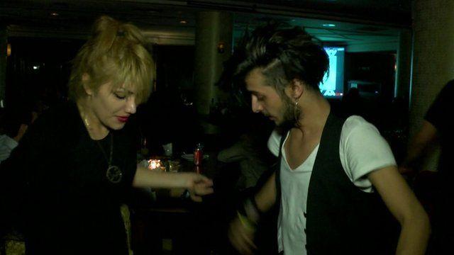 People in Irbil nightclub