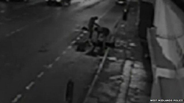 CCTV of mugging in Birmingham