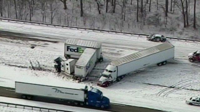 Lorry crash in Indiana