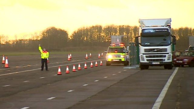 Officers would carry out some training on a real motorway