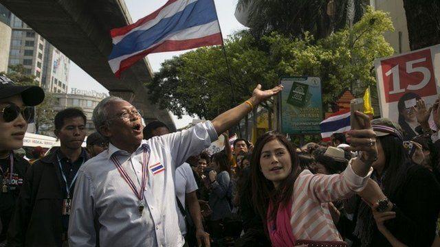 Suthep Thaugsuban and supporters
