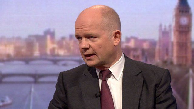 William Hague says UK will continue to help Syrians
