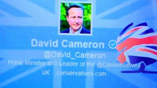 David Cameron's twitter site