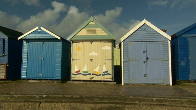 The beach hut on Friars Cliff in Christchurch