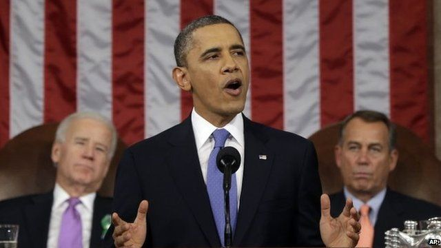 President Obama delivering State of the Union, 2013