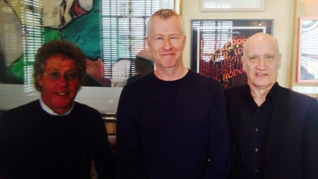 Roger Daltrey, John Wilson and Wilko Johnson