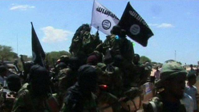 Al -Shabab fighters in Somalia