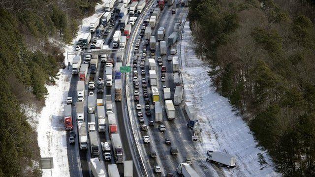 Traffic on Atlanta's freeway system