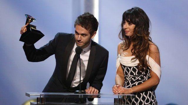 Zedd and Foxes accept their Grammy