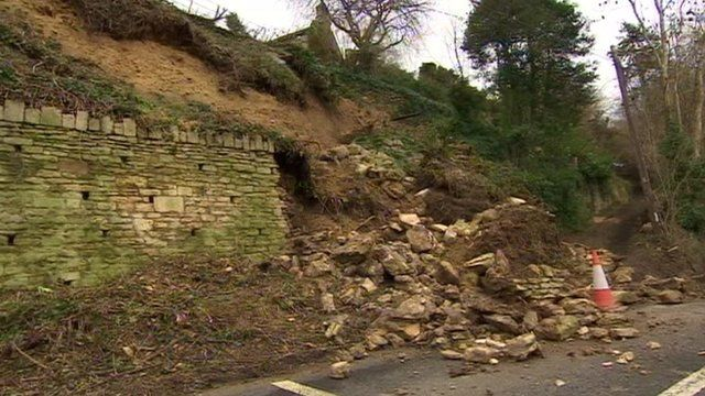 Landslide near Bath