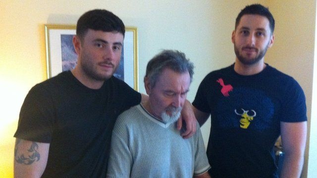Ben and Nick Wright with their father Tom