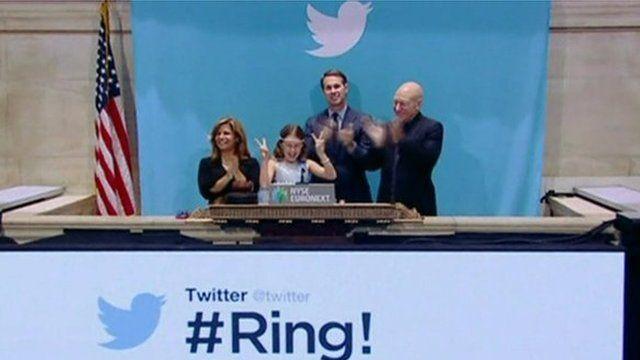 Twitter launch at New York Stock Exchange