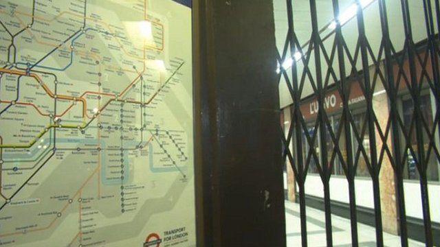 Tube station during the strike