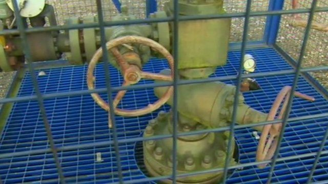 Machinery at a shale gas site