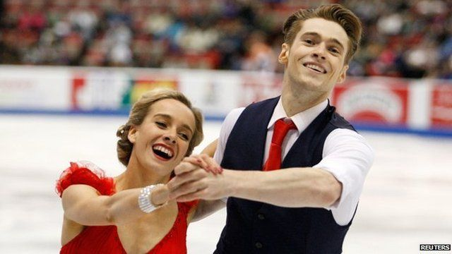 Figure skaters Pernelle Carron and Lloyd Jones in 2013