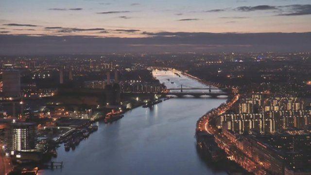 River Thames through central London