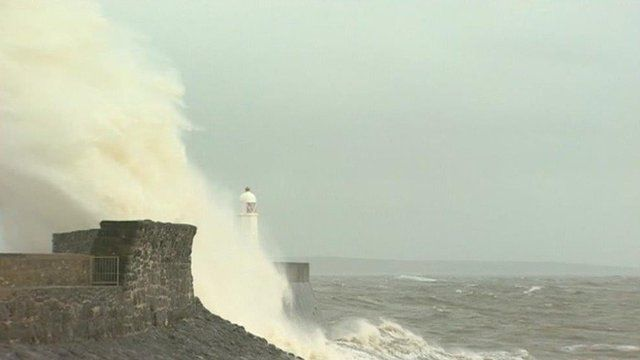 Stormy seas at Porthcawl