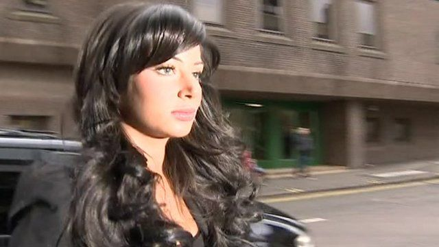 Tulisa on her way in court