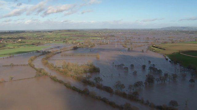 Flooding around a river