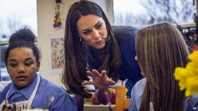 Duchess of Cambridge at Northolt High School
