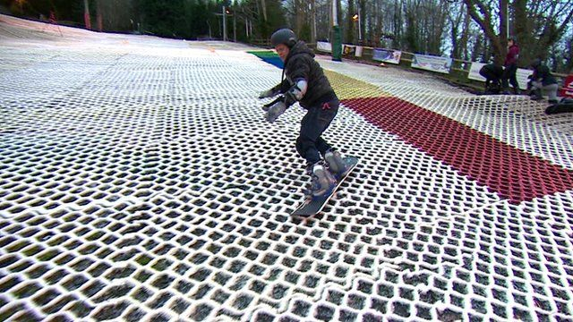 Mike Bushell snowboarding