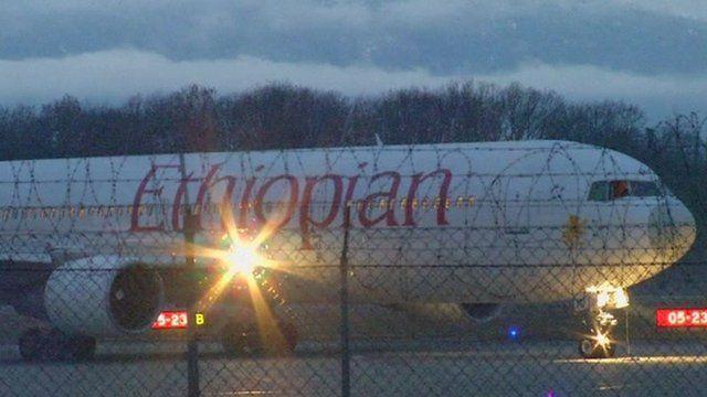 Hijacked plane on tarmac