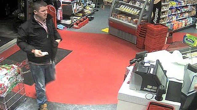 Philip Strickland was filmed on CCTV at a filling station in Comber shortly before his murder