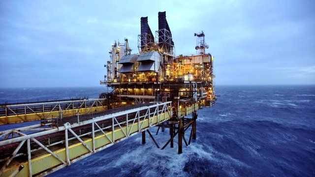 Section of the BP Eastern Trough Area Project oil platform in the North Sea, around 100 miles east of Aberdeen in Scotland