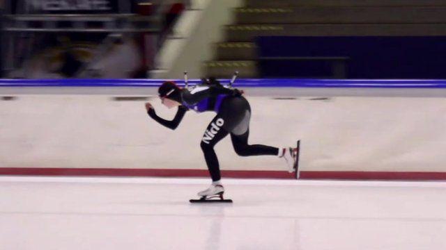 A speed skater