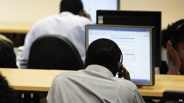 Workers at a call centre