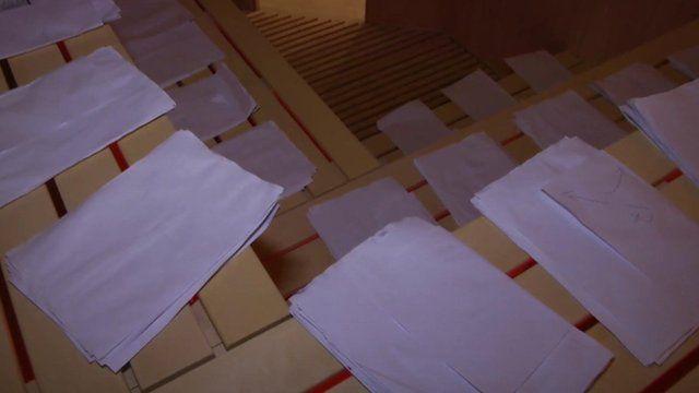 Documents in sauna