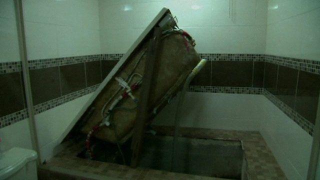 Entrances to secret tunnels were hidden under bath tubs