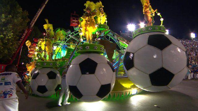 A carnival float in Rio