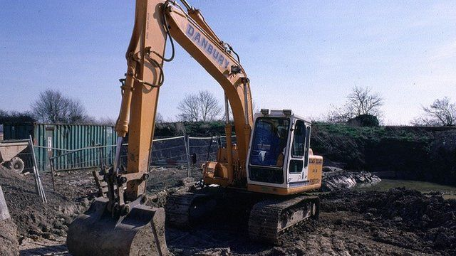 JCB on construction site