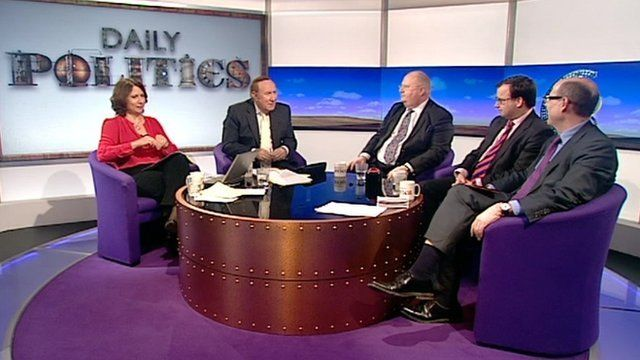 Jo Coburn, Andrew Neil, Eric Pickles, Gareth Thomas and Nick Robinson