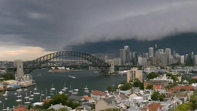 Sydney hit by giant storm
