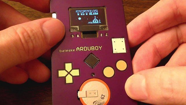 Tetris is played on a credit card sized device