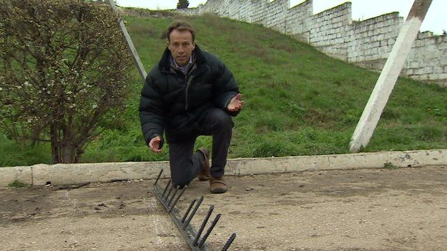 Ben Brown shows spikes in road
