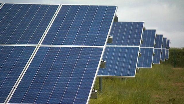 Solar panels on a farm near Swindon