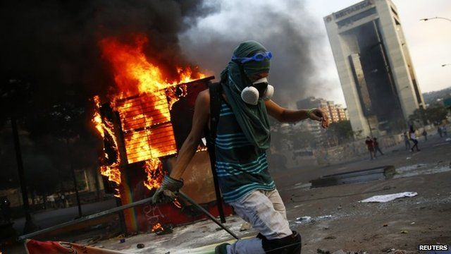 Anti-government protester in Caracas