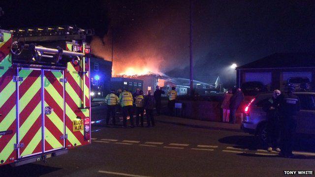 Fire at Downham Market fire station