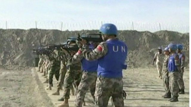 UN peacekeepers in Darfur