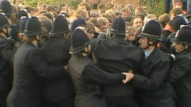 Miners and police