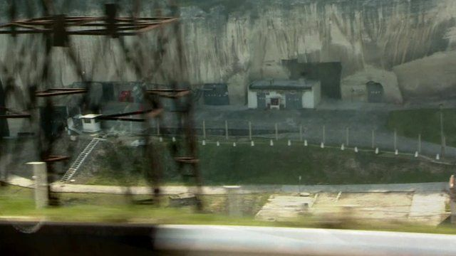 An ammunitions dump in the Inkerman valley in Crimea