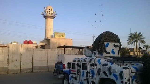 Mosque in Dora with police protection