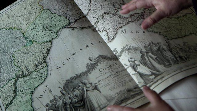 An 18th century map of Crimea then under Ottoman control