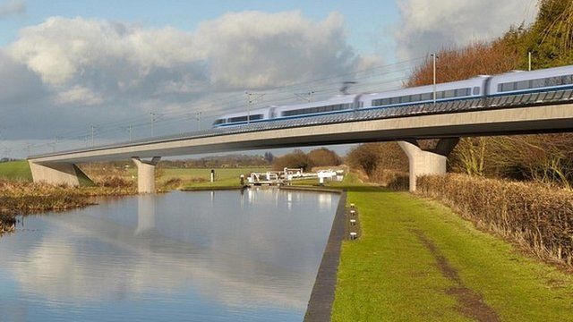 Artists impression of an HS2 train